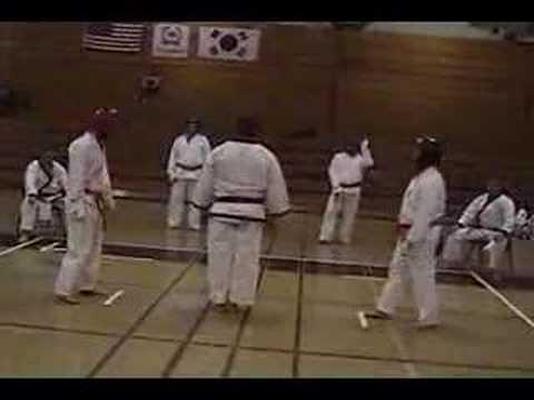 Erik and Dave fight at Kenyon's 2008 Soo Bahk Do Tournament